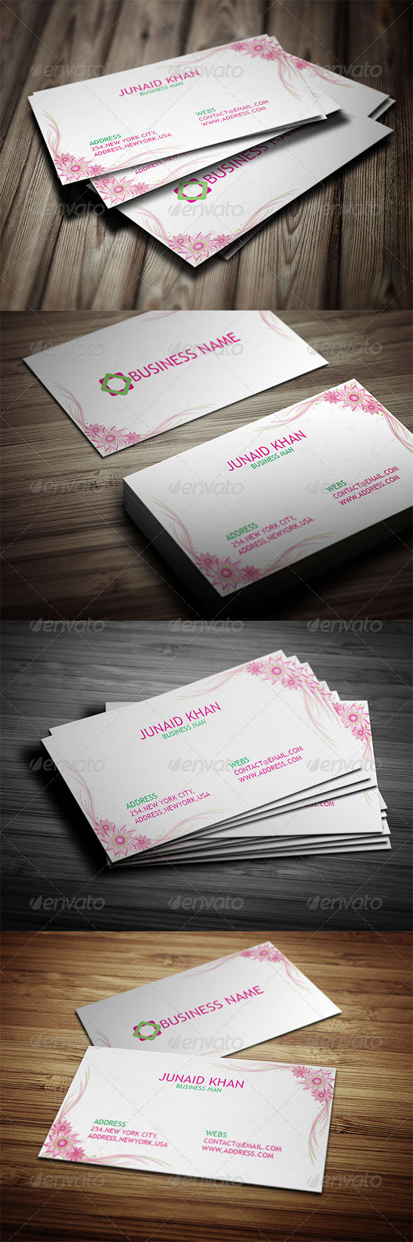 GraphicRiver Wonderful and Modern Business Card 7598615