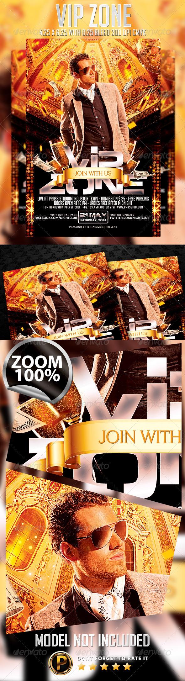 GraphicRiver Vip Zone Flyer Template 7598853