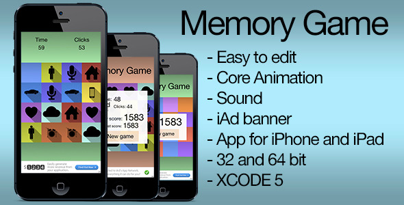 CodeCanyon Flat Memory Game &iAd 7599017