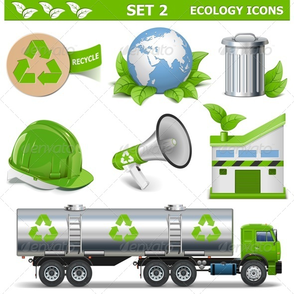 GraphicRiver Vector Ecology Icons Set 2 7599116