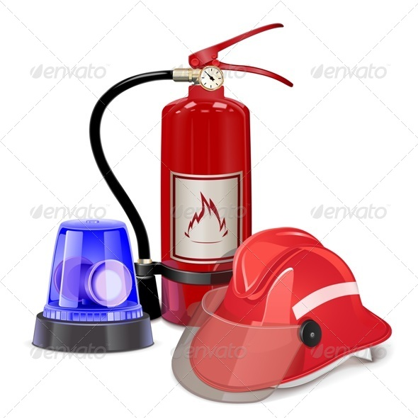 GraphicRiver Vector Fire Prevention Concept 7599169