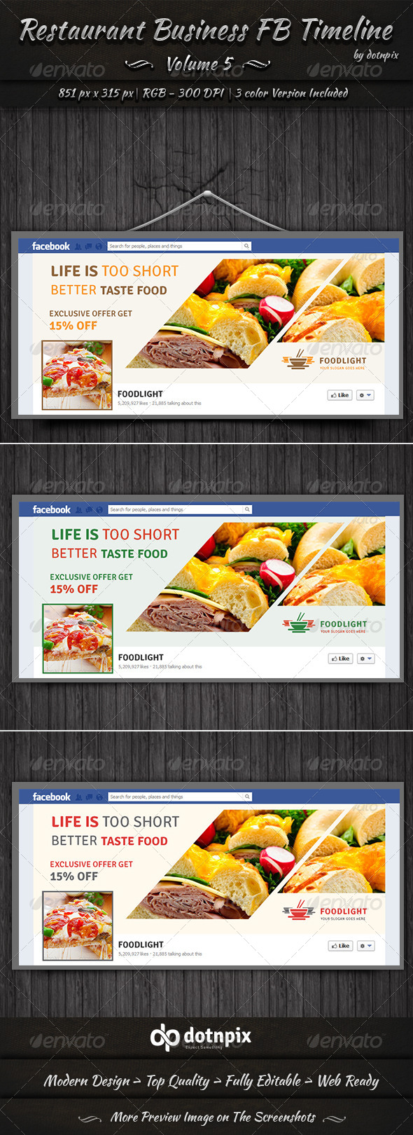 GraphicRiver Restaurant Business FB Timeline Volume 5 7599602