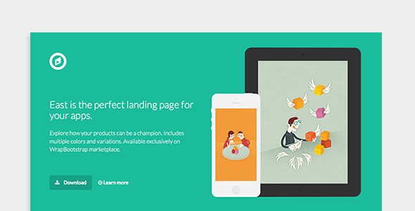 ThemeForest East App Landing Page 7600641