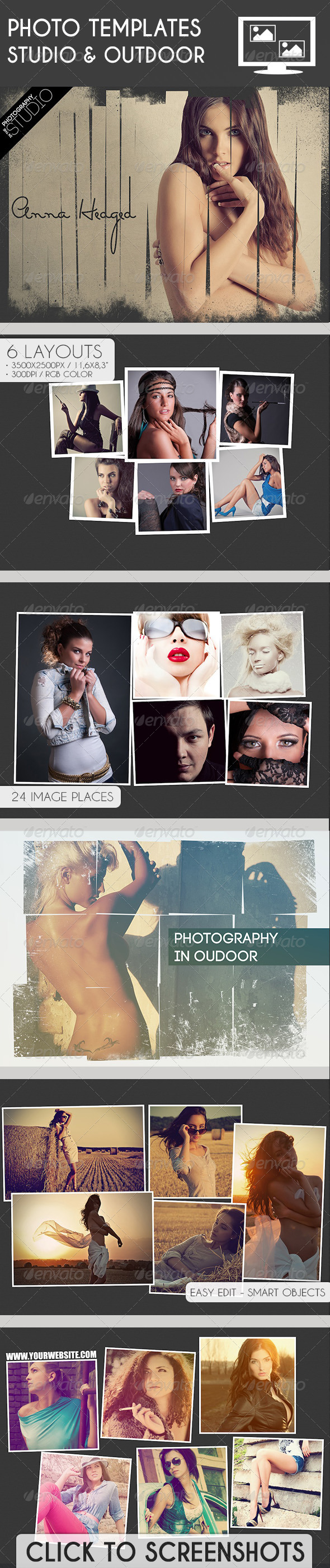 GraphicRiver Photo Templates Studio & Outdoor 7600852