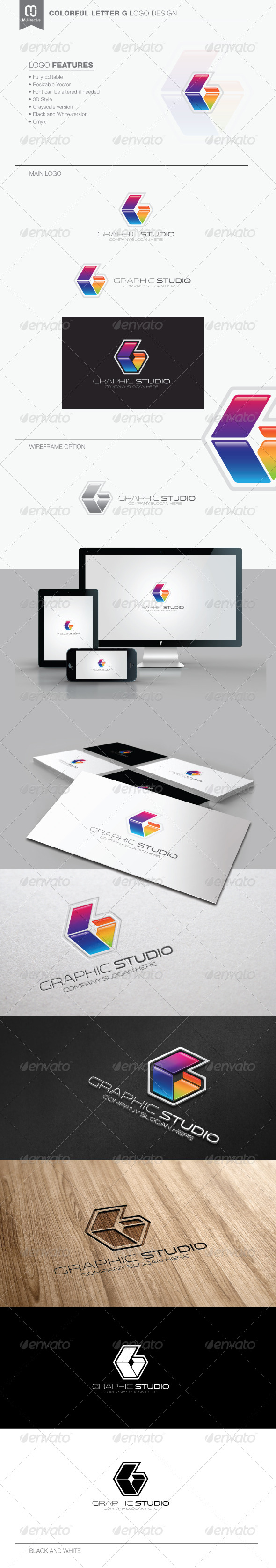 GraphicRiver Colorful Letter G Logo 7601640
