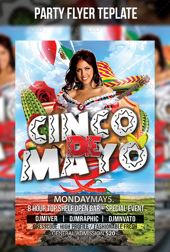 GraphicRiver Cinco de Mayo Flyer Template 7601805