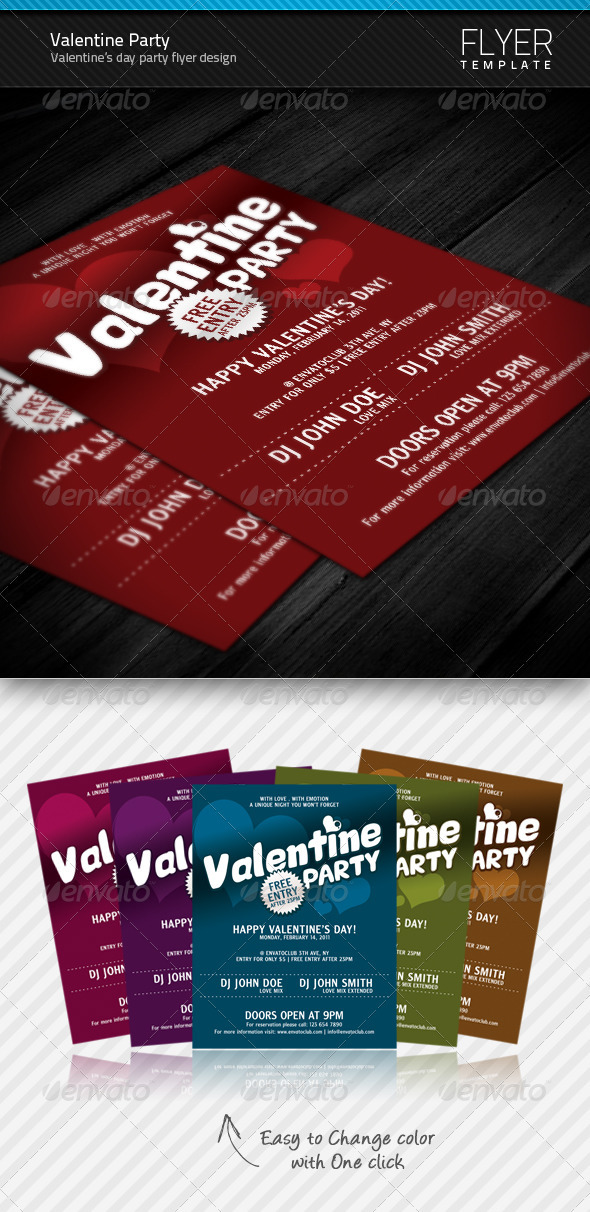 GraphicRiver Valentine Party flyer 151956