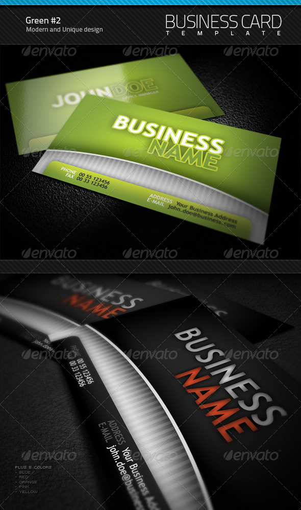 Green Business Card v2.0 - Corporate Business Cards