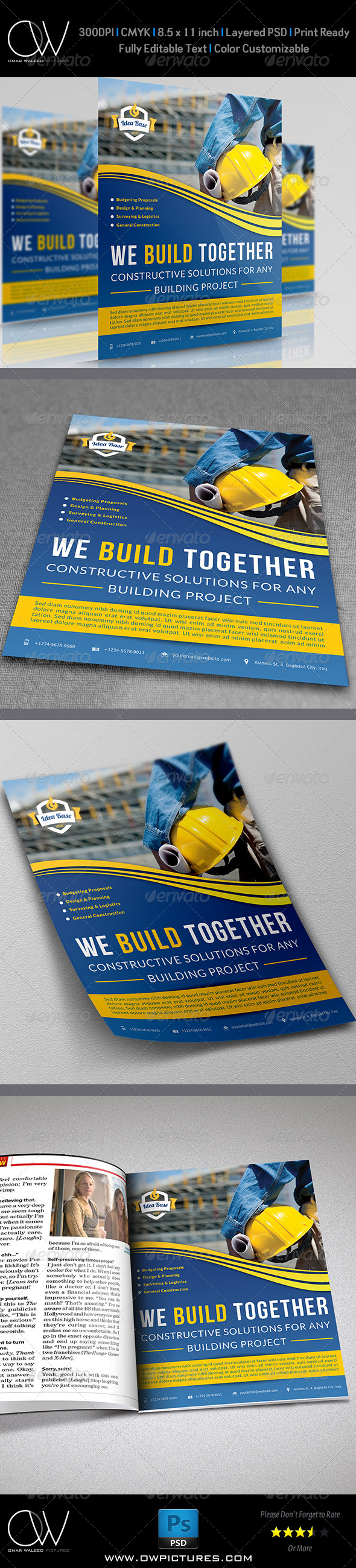 GraphicRiver Construction Business Flyer Template Vol.2 7602389