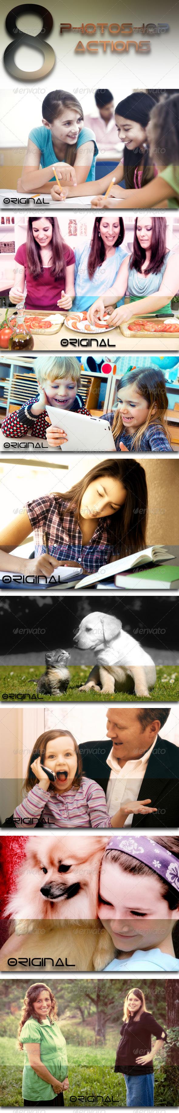 GraphicRiver 8 Photoshop Actions 7602539