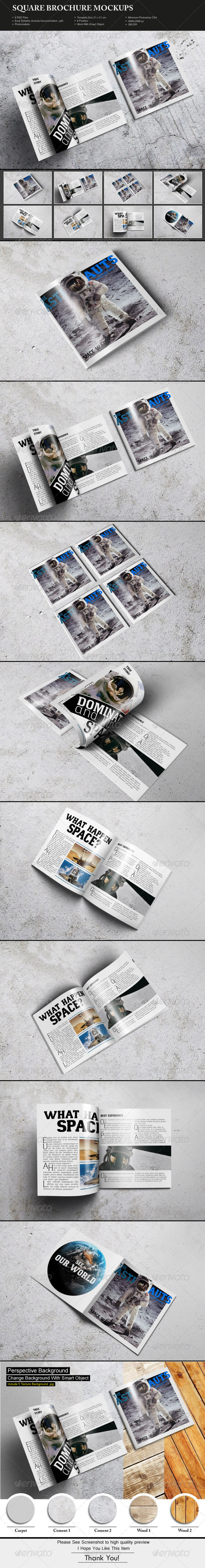GraphicRiver Square Brochure Mockups 7603945
