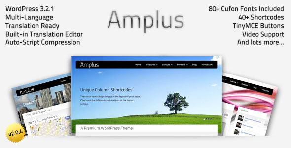 ThemeForest Amplus Premium WordPress Theme 180353
