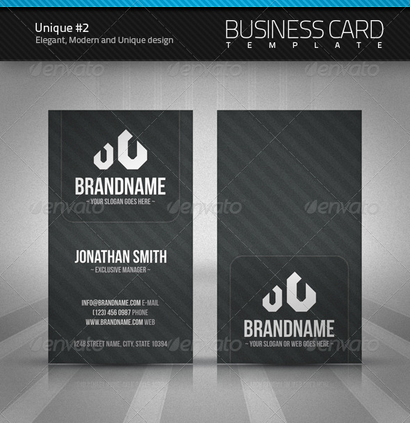 Unique Business Card #2 - Corporate Business Cards