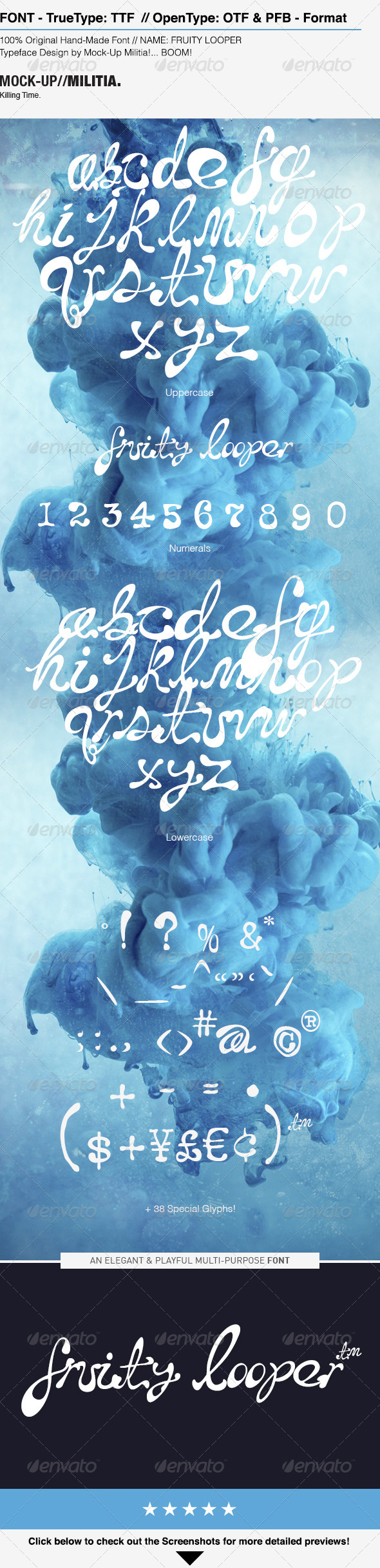 GraphicRiver Handwritten Font Hand Drawn Font Messy Font 7604423