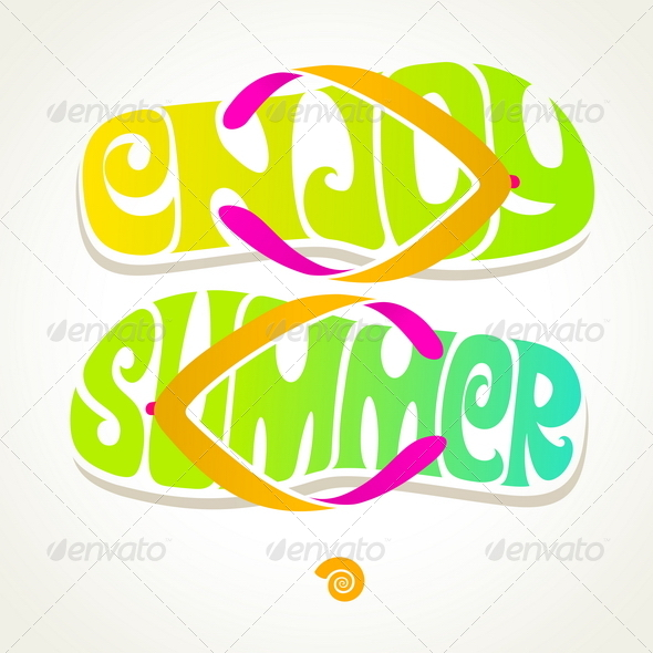 GraphicRiver Flip-Flop with Summer Greeting 7605387