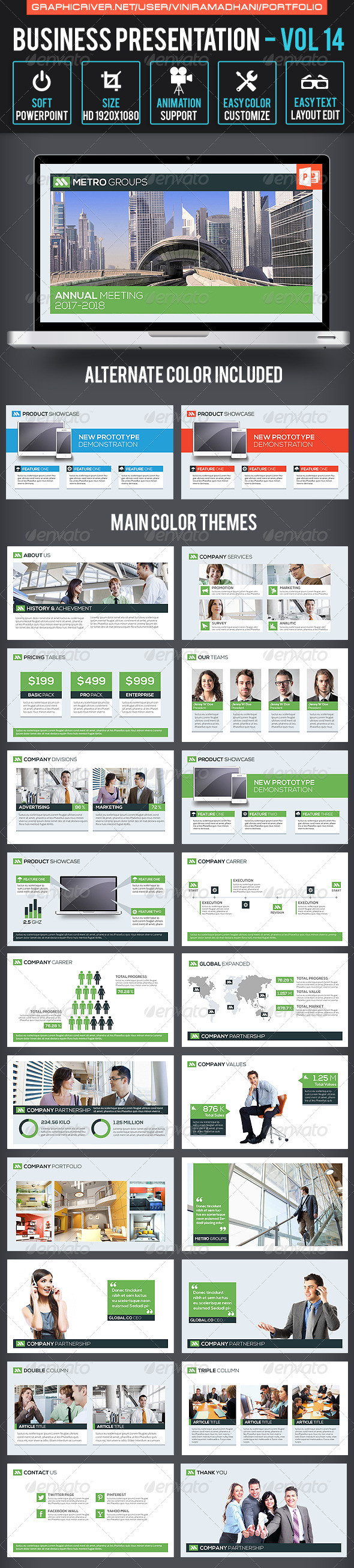 GraphicRiver Business Presentation Volume 14 7605443