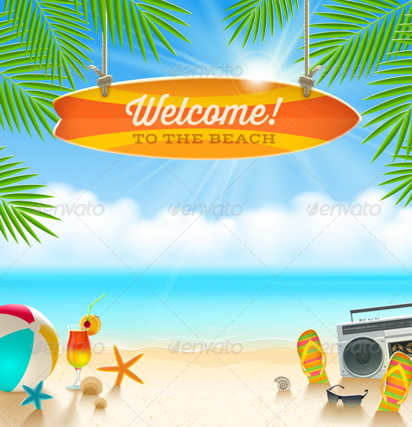 GraphicRiver Summer Holidays Vacation Vector Design 7605445