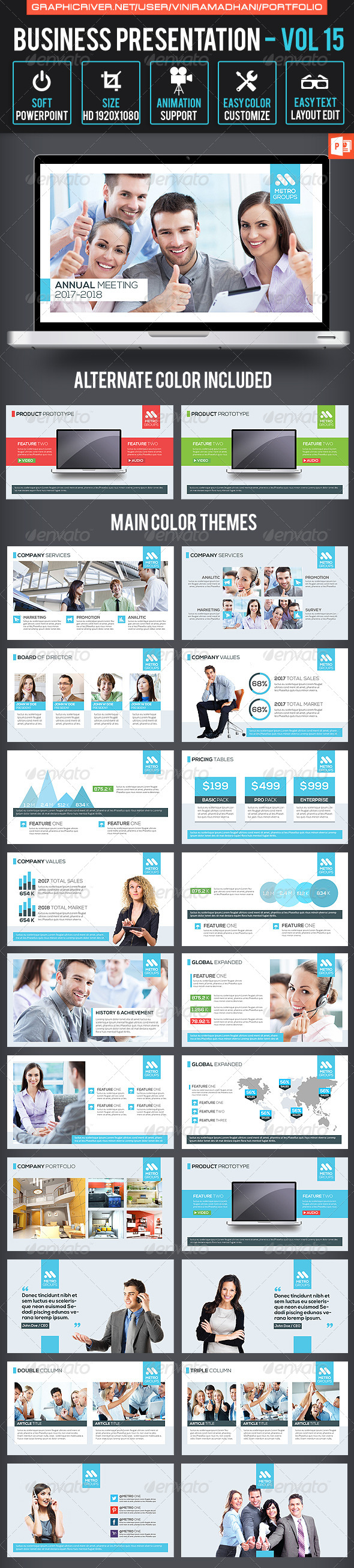 GraphicRiver Business Presentation Volume 15 7605447