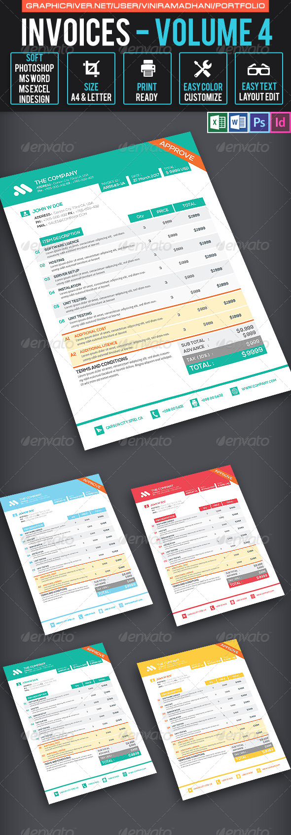 GraphicRiver Invoices Volume 4 7605633