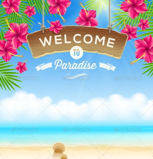 GraphicRiver Summer Holidays Vacation Design 7605779