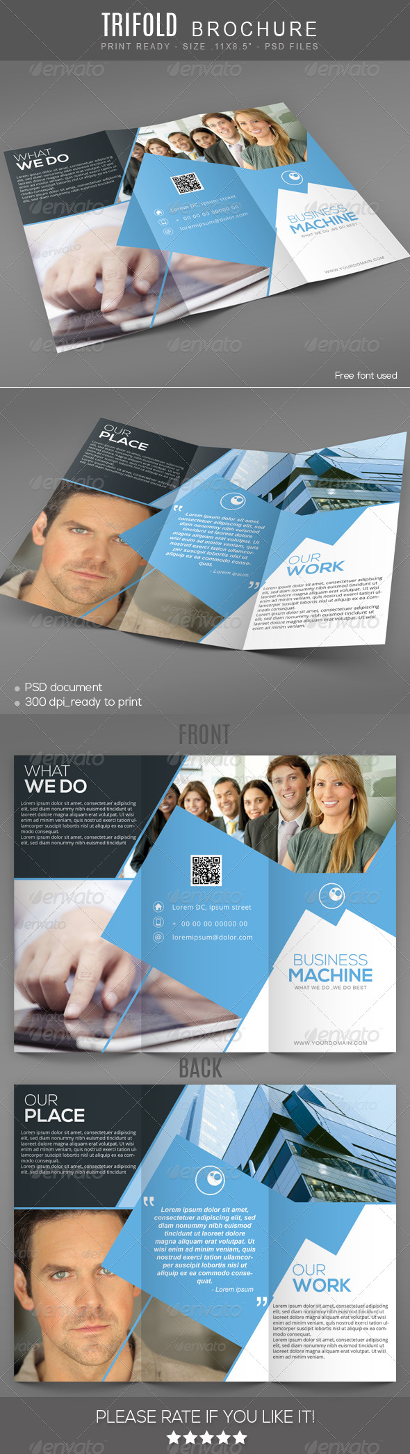 GraphicRiver Business machine Trifold Brochure 7606109