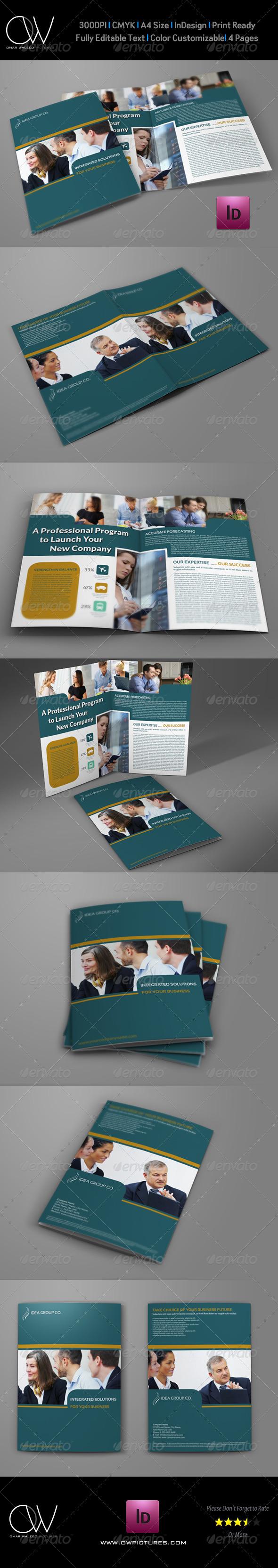 GraphicRiver Company Brochure Bi-Fold Template Vol.26 7606141