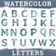 Watercolor Letters - GraphicRiver Item for Sale