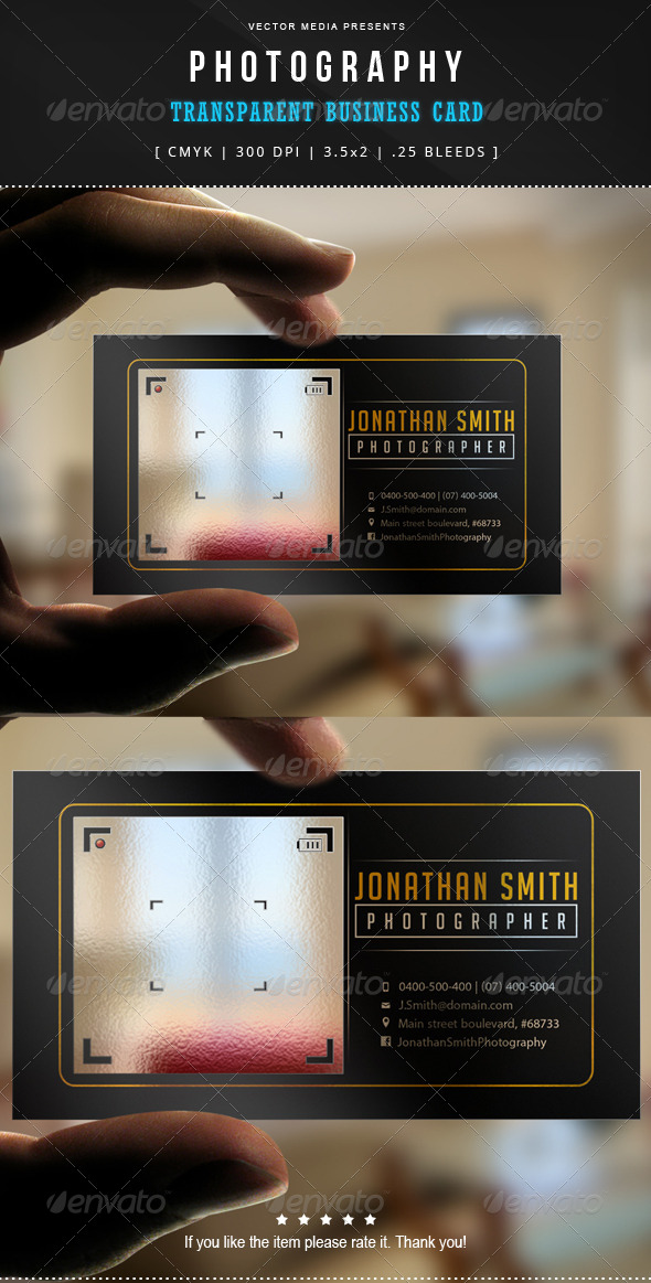 GraphicRiver Photography Transparent Business Card 7606176