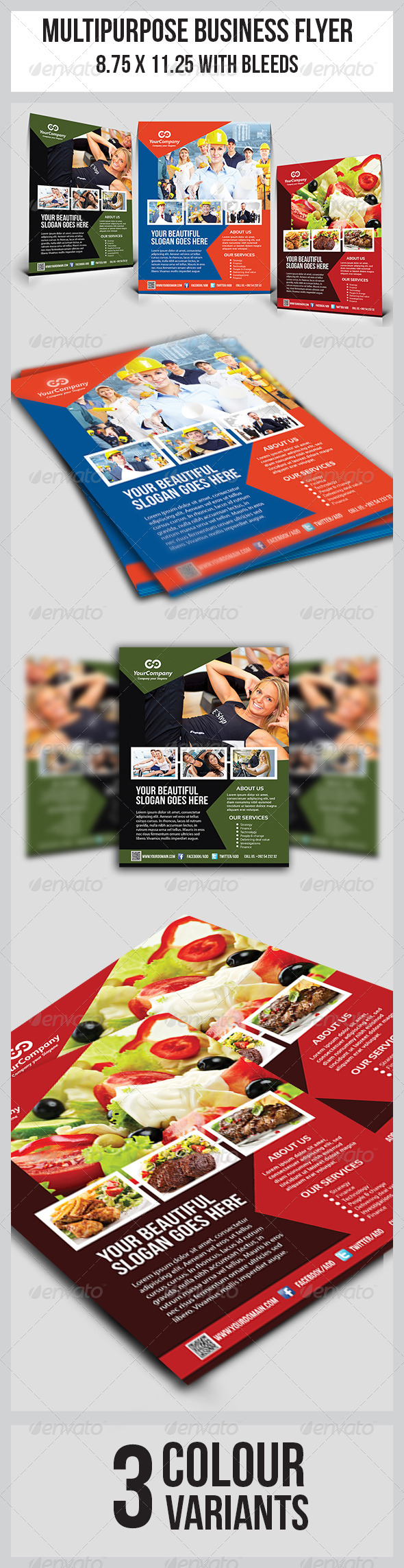 GraphicRiver Multipurpose Business Flyer 7606274