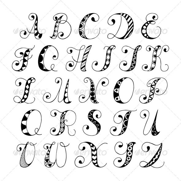 GraphicRiver Sketch Alphabet Font 7606461
