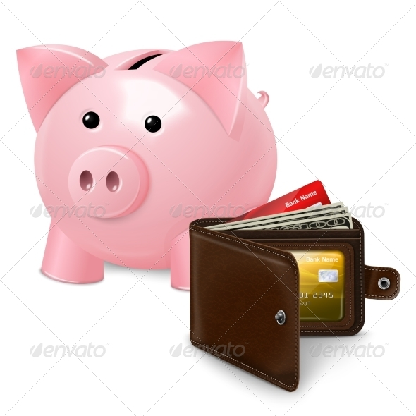 GraphicRiver Piggy Bank with Wallet 7606486
