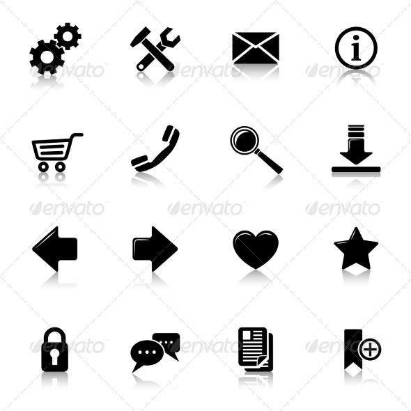 GraphicRiver Website Icons Black 7606488