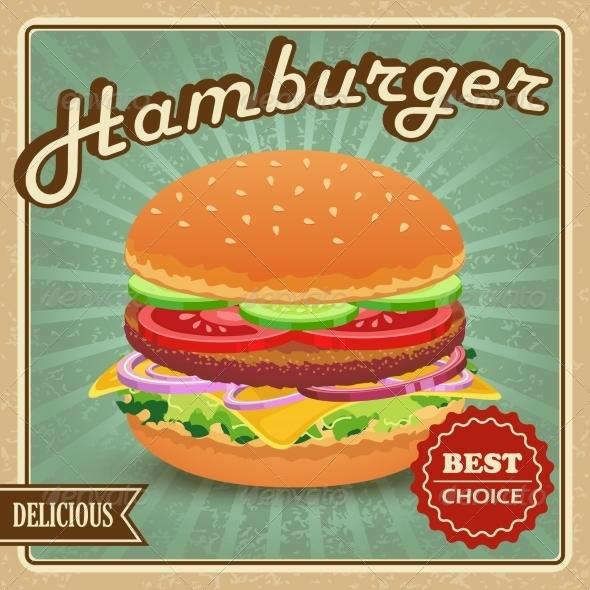 GraphicRiver Hamburger Retro Poster 7606497