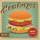 Hamburger Retro Poster - GraphicRiver Item for Sale