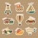 Transport Toy Stickers Set - GraphicRiver Item for Sale