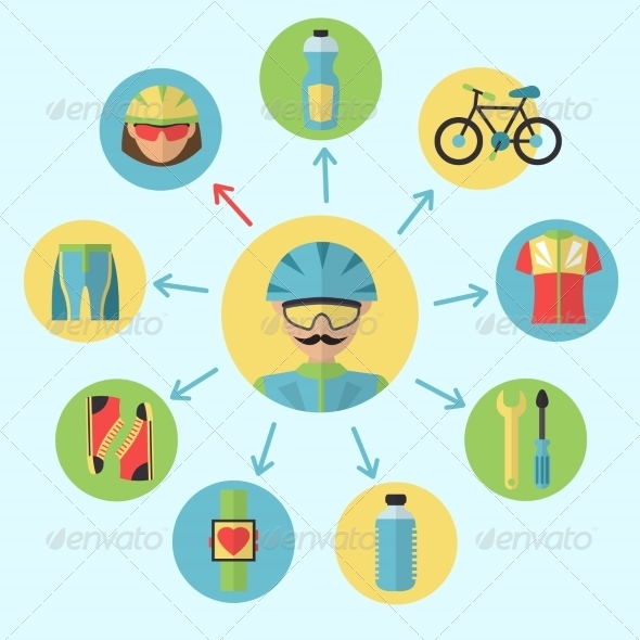 GraphicRiver Bicycle Icons Set 7606585