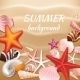 Seashell Sand Summer Background - GraphicRiver Item for Sale
