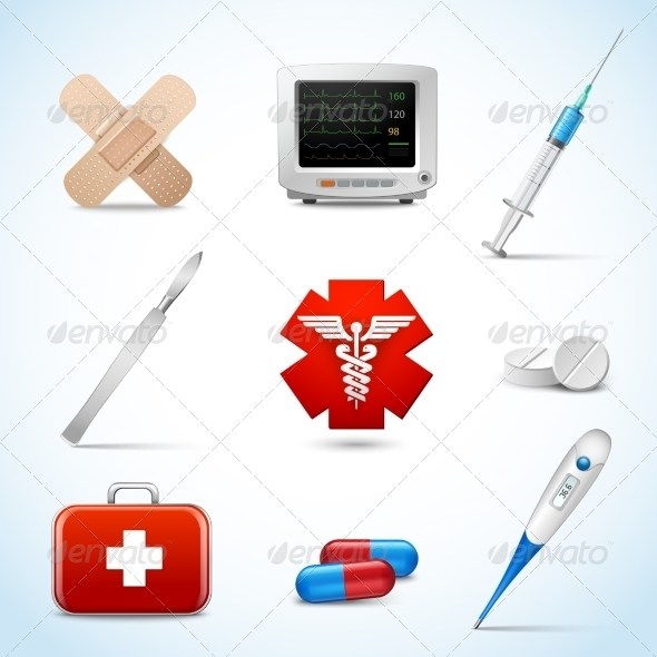 GraphicRiver Realistic Medical Icons 7606595