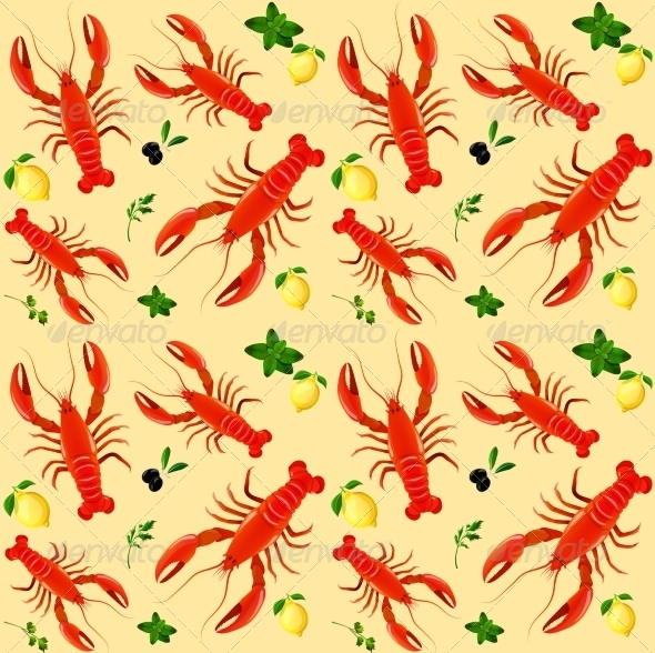 GraphicRiver Lobster Pattern 7606661