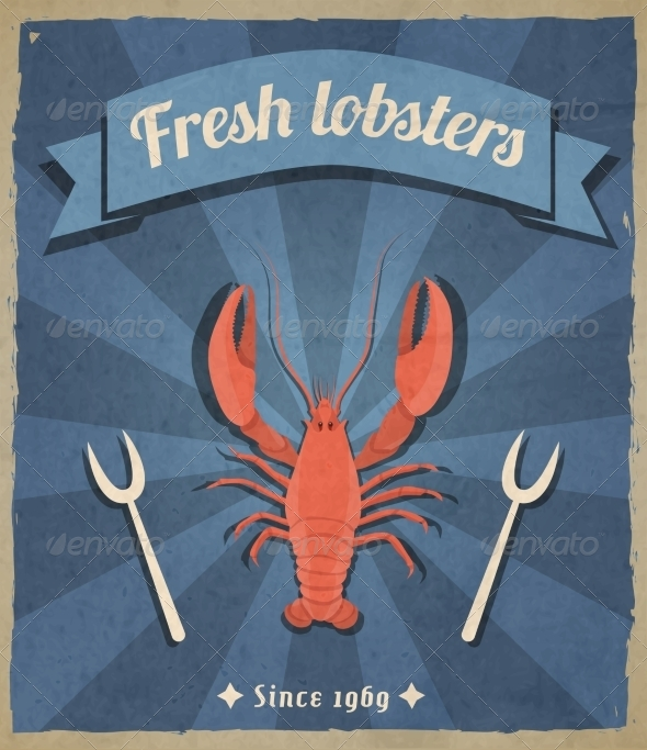 GraphicRiver Lobster Retro Poster 7606685
