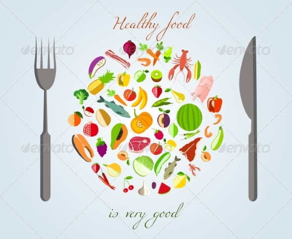 GraphicRiver Healthy Food Concept 7606698