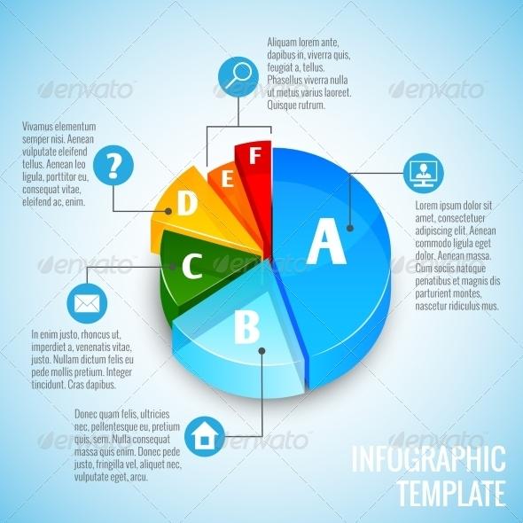 GraphicRiver Pie Chart Web Design Infographic 7606703