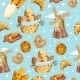 Bakery Hand Drawn Seamless Pattern - GraphicRiver Item for Sale