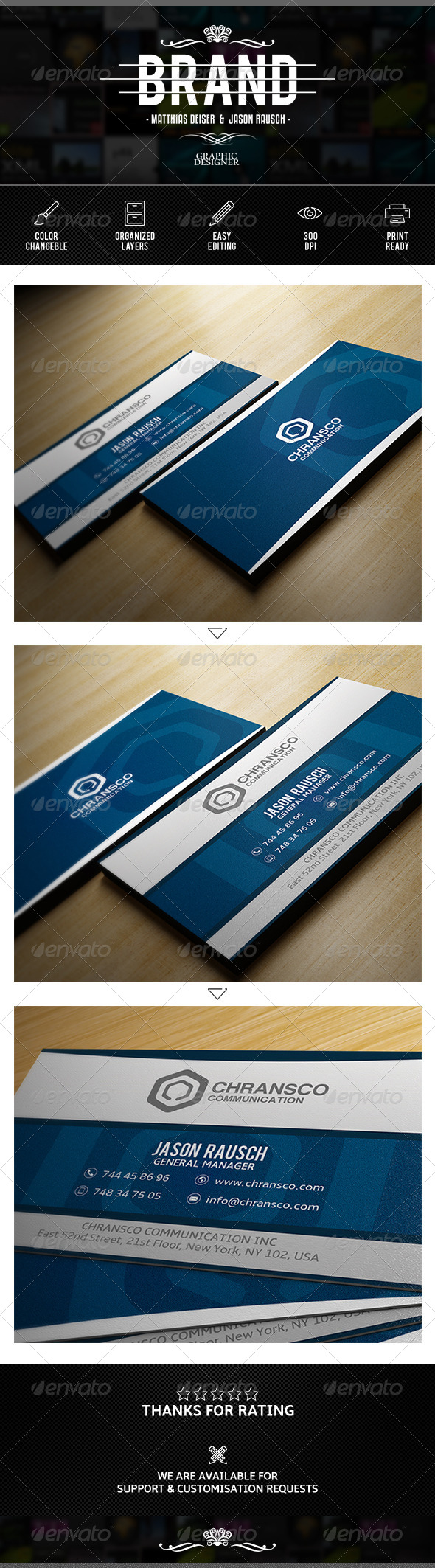 GraphicRiver Clean Corporate Business Card 7609209