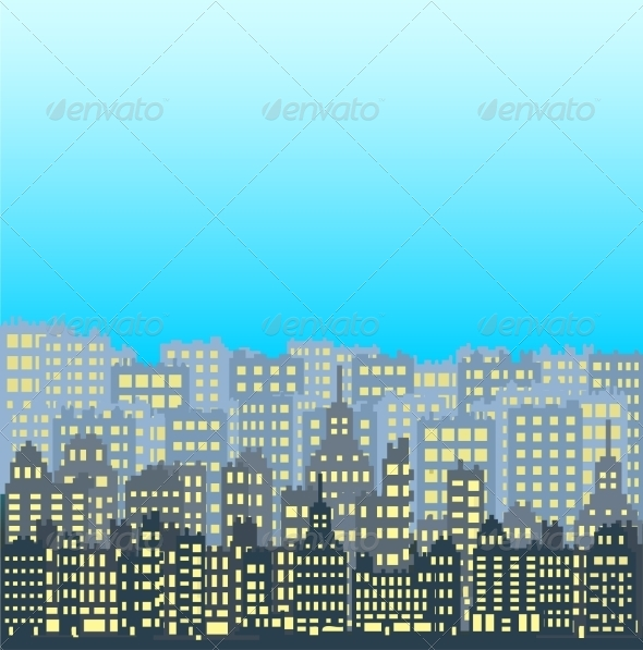 GraphicRiver Set of Pixel Buildings 7609804