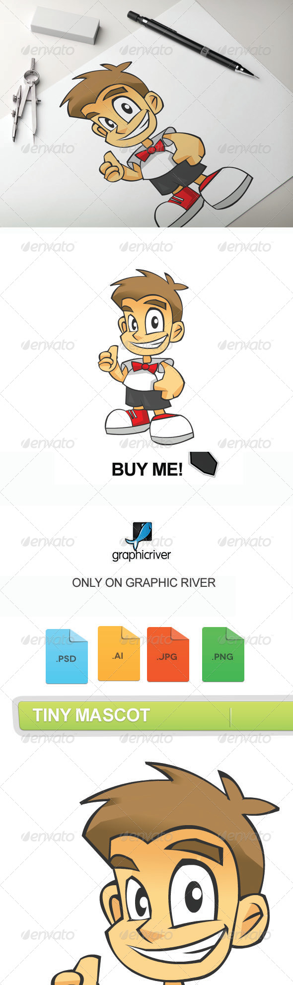 GraphicRiver Tiny Mascot 7610254