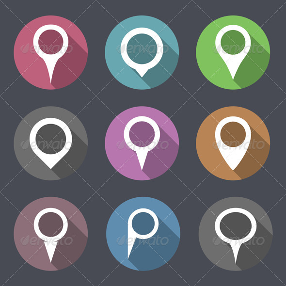 GraphicRiver Flat Map Markers 7610675
