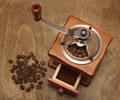 vintage coffee grinder and beans - PhotoDune Item for Sale