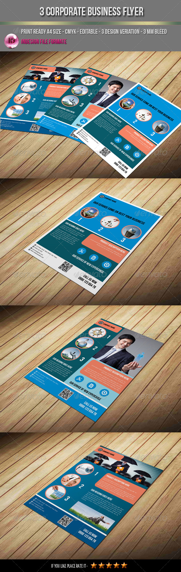 GraphicRiver 3 Corporate Business Flyer 7610934
