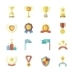 Flat Design Awards Symbols and Trophy Icons Set - GraphicRiver Item for Sale